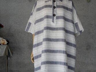 リネンの大きなチュニックシャツ フリーサイズの画像