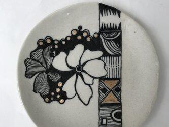 陶芸 手びねり 絵皿の画像