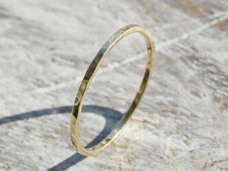 鎚目 ブラスフラットリング 1.0mm幅 でこぼこ 真鍮 BRASS RING 指輪 シンプル アクセサリー 164の画像