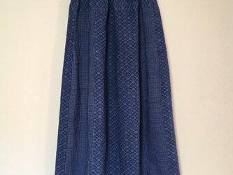 浴衣リメイク R ギャザースカート  着物 コットン 浴衣スカートの画像