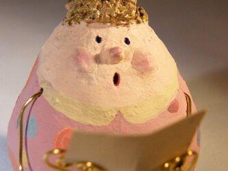 起き上がりこぼし天使・ピンク水玉ワンピーの画像