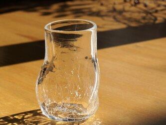 無色透明のグラス - 「KAZEの肌 」#361・ 高さ10.5cmの画像