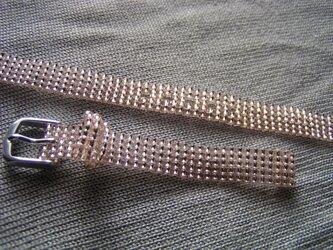 ビーズ織の時計ベルト(10mm) ロゼシャンパン の画像