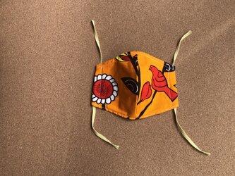 e149-アフリカ布マスクの画像