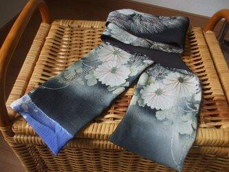 手描き友禅アンティーク留袖ストール 絹の画像