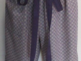 4880 小紋の着物で作ったハーフパンツ #送料無料の画像
