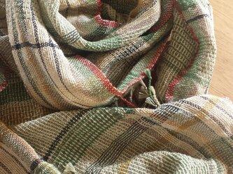 【手織り】木綿のストール#17の画像