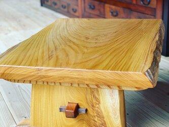 欅一枚板センターテーブルの画像