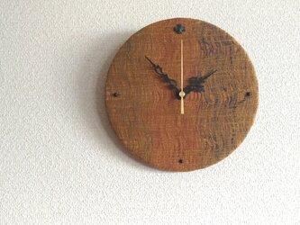 着物帯リメイク 布の壁掛け時計の画像