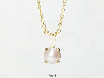 【6月誕生石】純白の1粒。天然パールのネックレス [送料無料]の画像