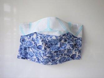 プリーツマスクカバー 青いバラ1の画像
