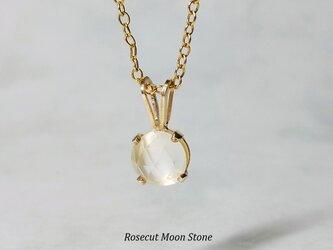 【6月誕生石】月の輝き。ローズカット・ムーンストーンのネックレス [送料無料]の画像