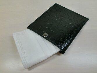 ちょっと贅沢に♪本革製・一枚革の不織布マスクケース・飾りステッチタイプ・0101の画像