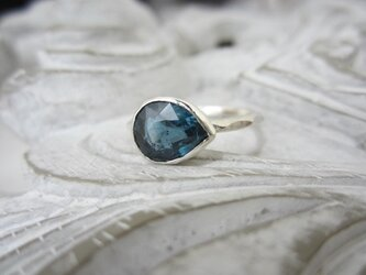 カイヤナイト(ペアシェイプ)・リング(silver925)(売約済)の画像