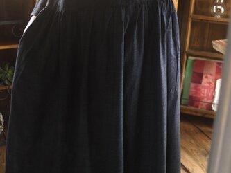 正絹紬ギャザーワンピースの画像