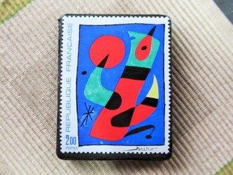 フランス 美術切手ブローチ6199の画像