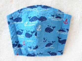 再販♪夏のキッズ立体マスク  クジラの画像