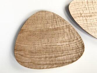 クリの三角プレート パン皿としてちょうど良いサイズの画像