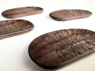 ブラックウォルナットの豆の豆皿の画像