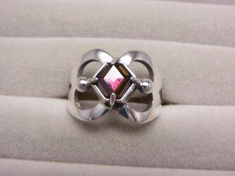 レインボーガーネットのリングの画像