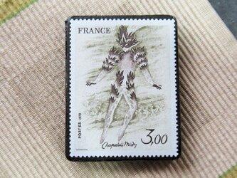 フランス 美術切手ブローチ6200の画像