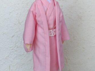 「薄紅」28cm男子ドール着物の画像