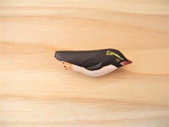 木彫りブローチ スネアーズペンギン の画像