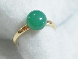 (1点もの)グリーンオニキスのリング(フリーサイズ)の画像