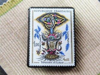 フランス 美術切手ブローチ6202の画像