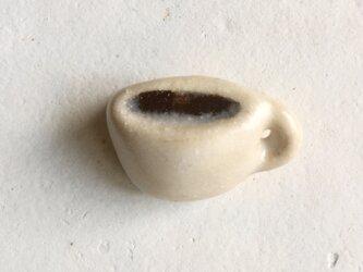 陶ブローチ コーヒータイムの画像