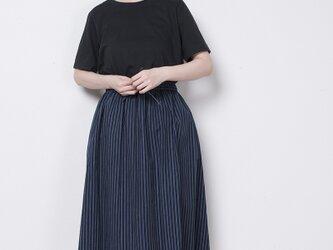 S0006G  らしか×yohaku スカート 恵風(紺)の画像