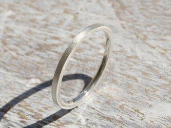つや消し シルバーフラットリング 1.5mm幅 マット シルバー950 SILVER RING 指輪 シンプル 176の画像