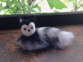 【羊毛フェルト】ミステリアスなネコの画像