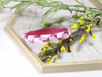 モザイク 指ぬきのブレスレット 花牡丹【和装・着物】の画像