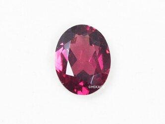 天然石ロードライトガーネットのルースストーン (Rhodolite Garnet Loose Stone)の画像