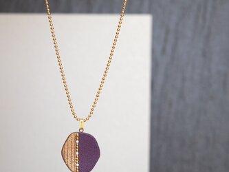 紫小粒ネックレス 古代紫 和風アクセサリーの画像