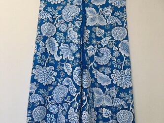 Tropical blue ワイドパンツ の画像