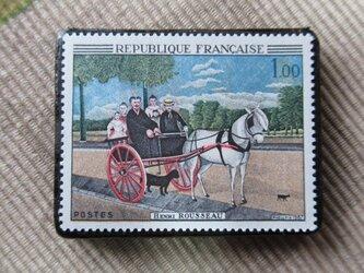 フランス 美術切手ブローチ6204の画像