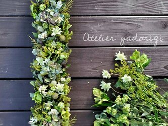 ''初夏に向けて17種の草花を紡いだ縦長ガーランド''の画像