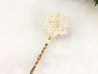 【momousagi】No.24 お花のヘアピンの画像