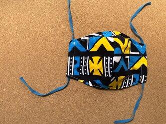 e158-アフリカ布マスクの画像