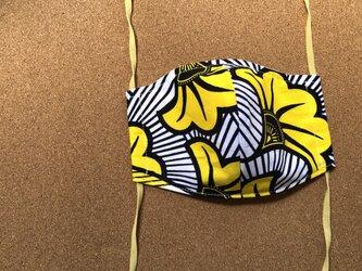 e153-アフリカ布マスクの画像