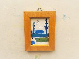 「いつかの旅」小さな絵/一点物/原画 ※額入りの画像