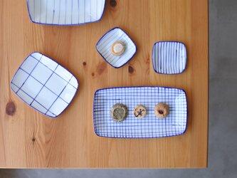 gosu チェック柄の長皿の画像
