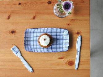 【再販】gosu チェック柄の長皿の画像