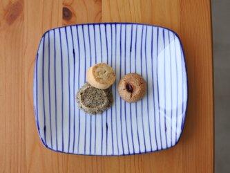 gosu 細かいストライプのお皿の画像