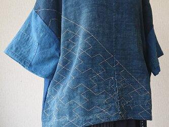 刺し子BORO肩空きブラウス  200506の画像