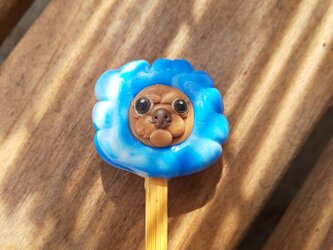 わたあめ犬の耳かきの画像