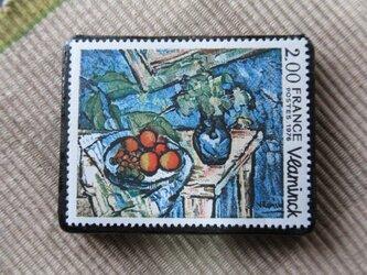フランス 美術切手ブローチ6207の画像
