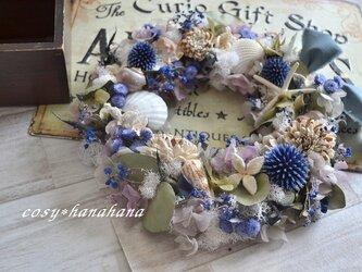夕暮れさざ波の海wreathの画像